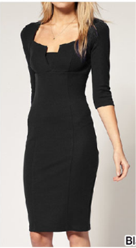 Picture of Unique Neckline Dress