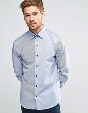 Picture of Dickens and Browne Mixed Stretch Hidden Shirt
