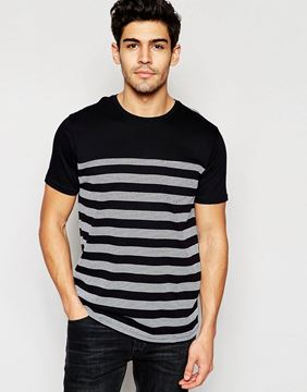 Picture of Brave Soul Textured Stripe T-Shirt