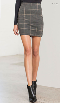 Picture of New Look Grid Mini Skirt