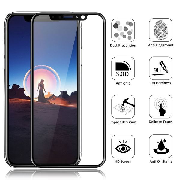 save off 4ecb3 11319 5D Full Cover || Tempered Glass || Screen Protector || For Apple iPhone 7 8  Plus X XS Max XR.