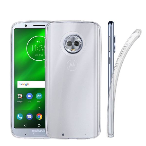 Picture of Motorola Moto G6 Plus Ultra Thin Clear Protective Non Slip TPU Transparent Case